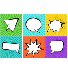 colorful striped backgrounds with speech bubbles vector image