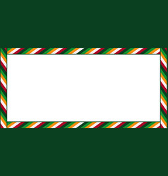 cute christmas or new year rectangle billboard vector image