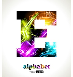 Design Abstract Letter E vector image