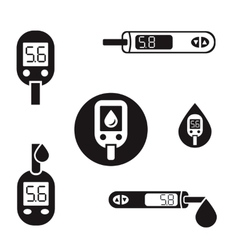 Diabetes Glucometer Icons 08 A vector