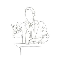 Doodle orator Sketch vector image