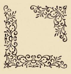 elegant vintage corners vector image
