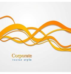 Elegant wavy color design vector image vector image