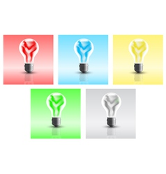 energy bulbs vector image