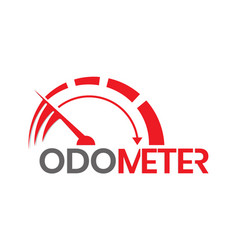 Fast acceleration odometer logo isolated on white vector