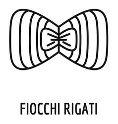fiocchi rigati icon outline style vector image
