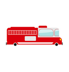 Fire truck isolated transport on white background vector