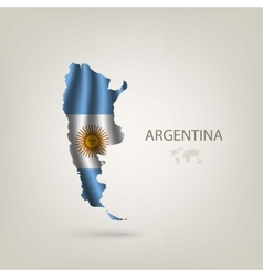 flag argentina as a country vector image