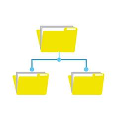 Folder file data center server vector