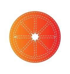 fruits lemon sign orange applique isolated vector image