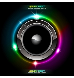 Futuristic speaker background vector