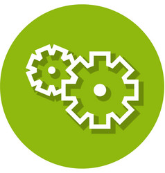 gears within a circle line icon vector image