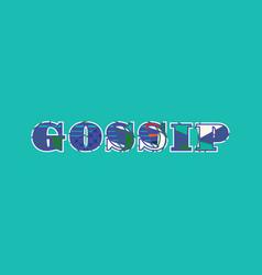 Gossip concept word art vector
