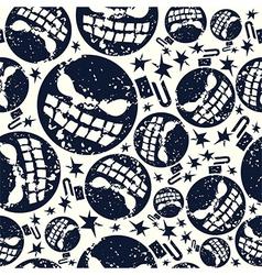 Halloween bomb seamless pattern vector