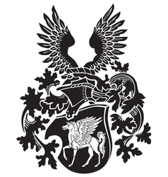 Heraldic silhouette no39 vector