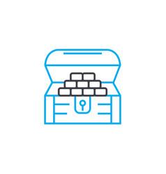 household savings thin line stroke icon vector image
