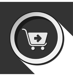 Icon - shopping cart next with shadow vector