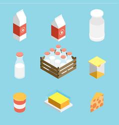 isometric milk icon vector image vector image