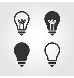 Light bulb icons set flat design vector image