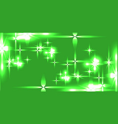 light green shining background with light stars vector image