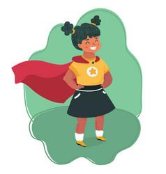 Little girl in a superhero costume vector