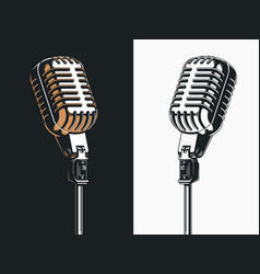Live on stage open microphone drawing transparent vector