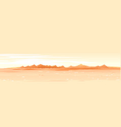 Martian surface landscape background vector