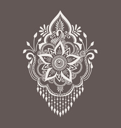 Mehndi ornament vector