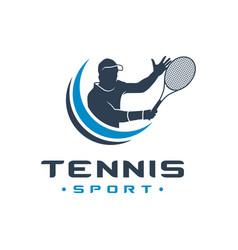 Mens tennis sports logo vector