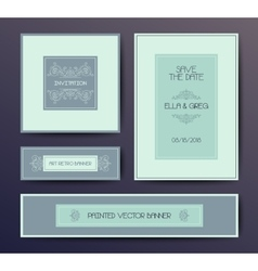 Modern elegant postcard template vector