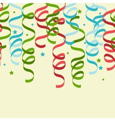Party Streamers Pattern Background vector