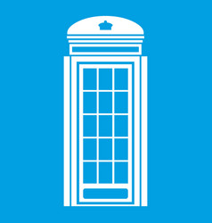 Phone booth icon white vector