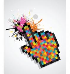 Pixel cursor hand vector
