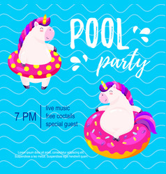 pool party invitation template background for vector image