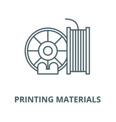 printing materials line icon linear vector image