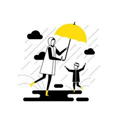 Rainy day - flat design style vector