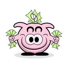 Rich Piggy Bank vector image