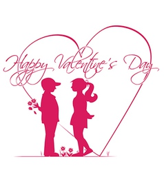 Romantic story of Valentines Day vector image