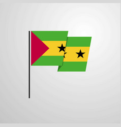 sao tome and principe waving flag design vector image