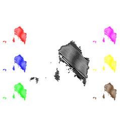 Satun province map vector