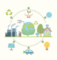 save energy and ecology design vector image