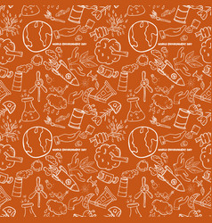 Seamless pattern 6 contour of elements for design vector