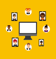 Social media community icons vector