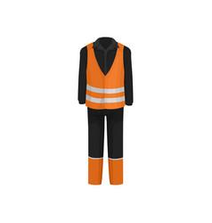 Traditional uniform of road worker black jacket vector