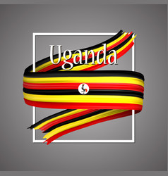 uganda flag official national ugandas 3d vector image