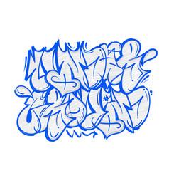 Underground graffiti lettering vector