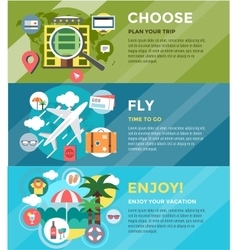 Vacation summer travel infographic booking fly vector