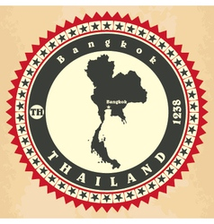 Vintage label-sticker cards of Thailand vector image