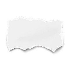 White paper tear for memo note with soft shadow vector