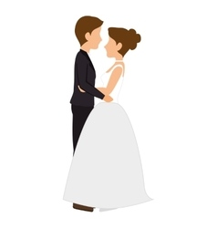 Woman and man couple wedding cartoon vector